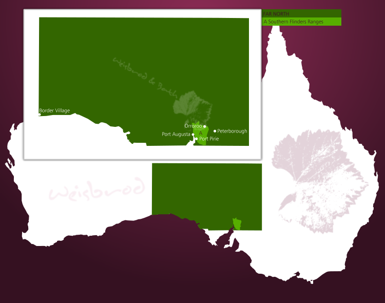 Karte der Weinbauregion Far North in South Australia