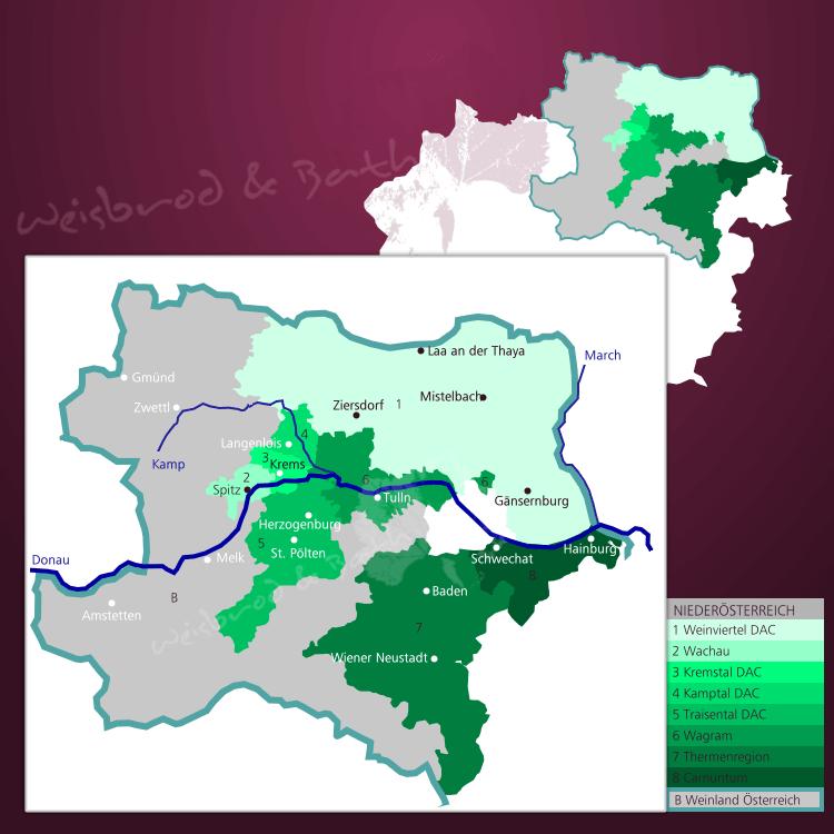 Piemont Weinbau Karte.Weinregion Niederösterreich Karte Weine Rebsorten