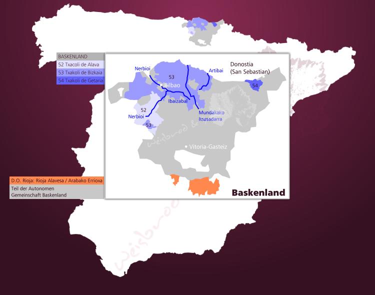 Spanien Karte Regionen.Weinbau Im Baskenland In Spanien Pais Vasco Und Seine Weine