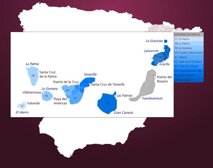 Kanaren Inseln Karte.Weinbauregion Kanaren Weinbau Auf Den Kanarischen