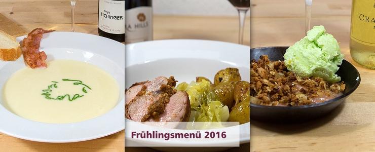 Saisonales Menü mit Weinbegleitung für das Frühjahr 2016