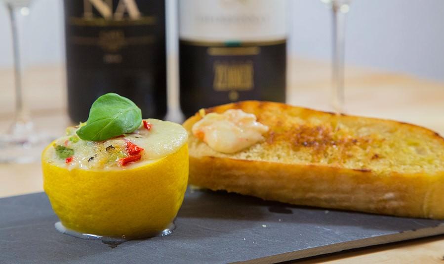 Header Zitrone mit Mozzarella aus dem Ofen